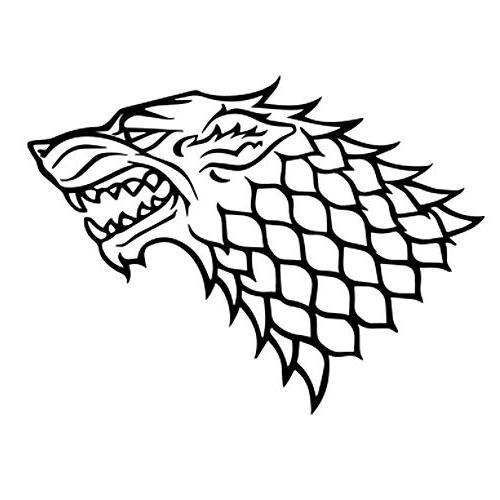 Game Of Thrones House Stark Direwolf Macbook Decal