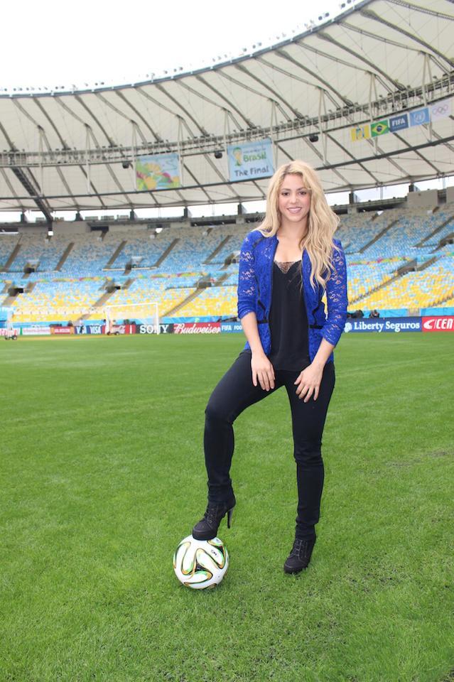 Colombian Singer Shakira in Brazil