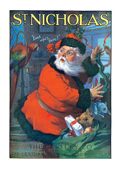 Santa Claus And Parrot Magazine Covers Christmas
