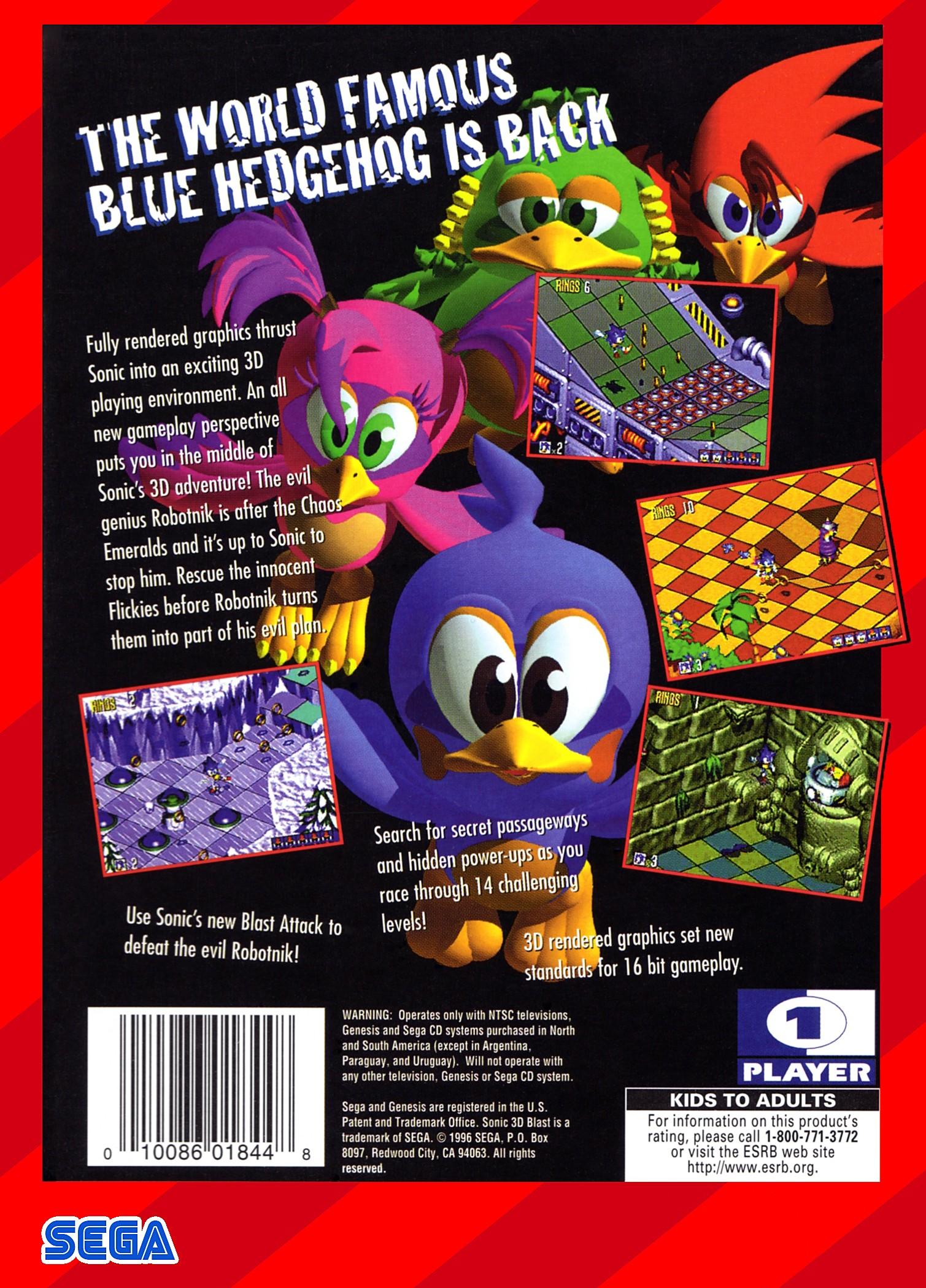 Sonic 3D Blast Details  LaunchBox Games Database