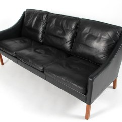 Borge Mogensen Sofa Model 2209 Accent Pillows For Brown Leather Three Seater Teak And Tre Pers Og Laeder Click Here To See A Larger Picture