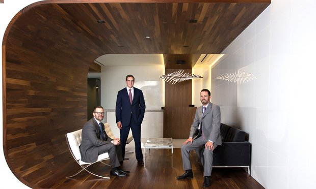 Brad Caldwell, Austin Curry and Jason Cassady, principals in Caldwell Cassady & Curry in Dallas.