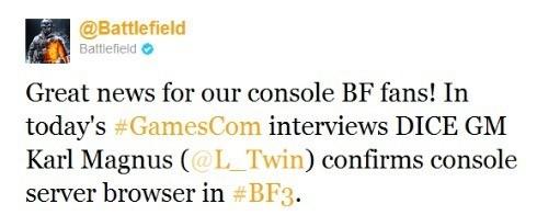 Battlefield3ServerBrowserTweet