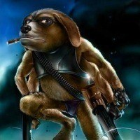 It doesn't get much more badass than a six-legged, gun-toting cigar smoking pooch, does it?