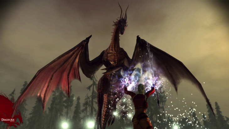 Dragon age origins dragon mage battle