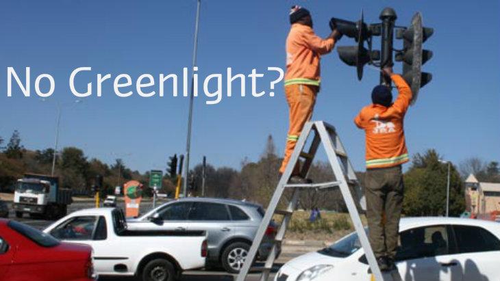 No traffic light