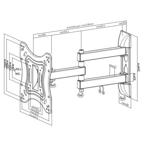 Mount World 1095 Tilt Swivel Corner Wall Mount