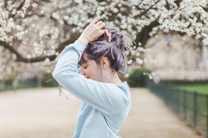 Cheveux violets bleus-54