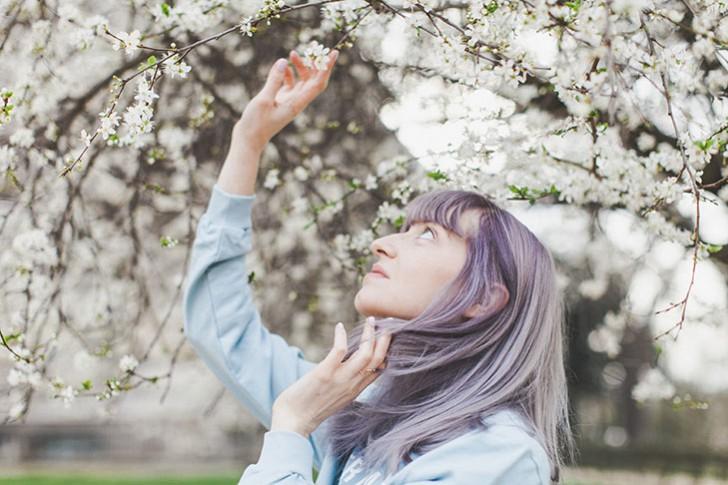 Cheveux violets bleus-65