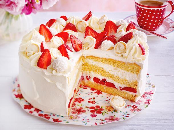 ErdbeerRaffaelloTorte Rezept  LECKER