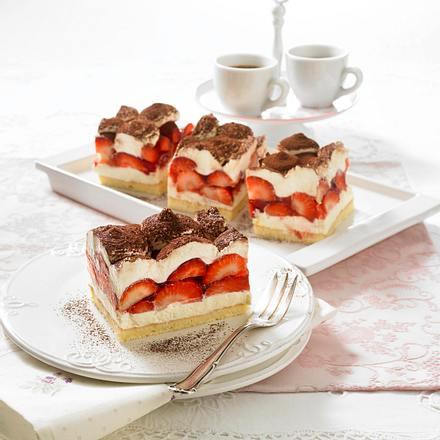 ErdbeerTiramisuSchnitten Rezept  LECKER