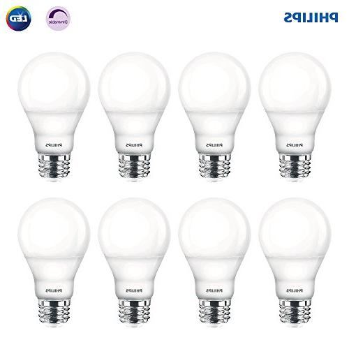 Philips LED Dimmable A19 Frosted Light Bulb: 800-Lumen,