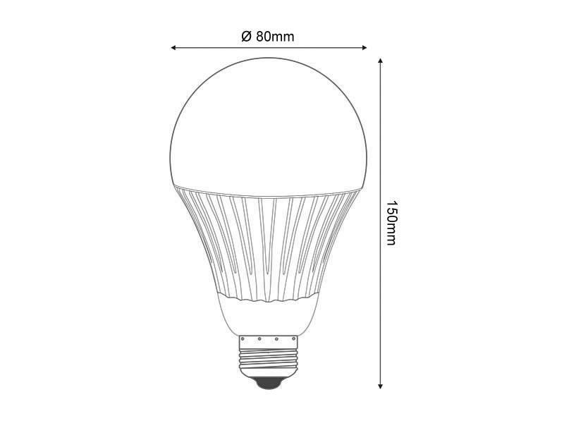 Bombilla LED E27, 12W, chip Samsung, Sensor movimiento y
