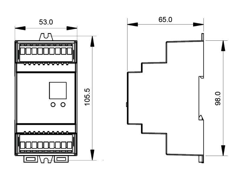 DALI Driver DC12-36V, 1ADx4CHx(60-180)W, Carril DIN, Push