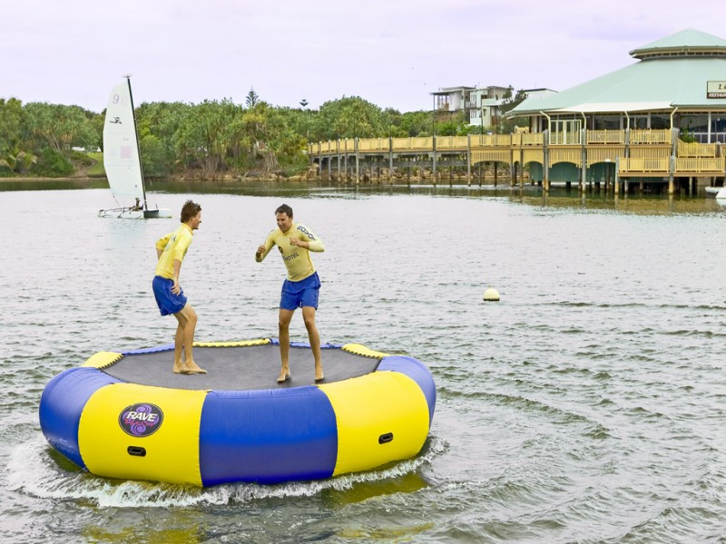 inflatable soccer ball chair grey check covers novotel twin waters: family activities by the bucket load! | discover queensland