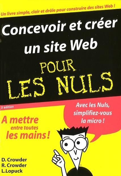 Wordpress Pour Les Nuls Pdf : wordpress, Concevoir, Créer, David, Crowder, Informatique, Leslibraires.ca