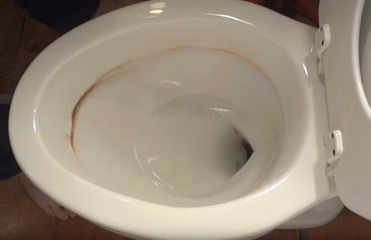 Easy Way To Remove Cakedon Hard Water Stains From The Toilet