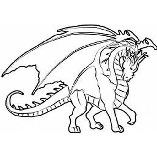 Winged Dragon Cardboard Coloring Cutout