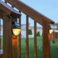 Lights.com | Solar | Solar Wall | Brown Solar Fence Lights ...