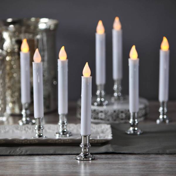 Flameless Taper Candles with Remote