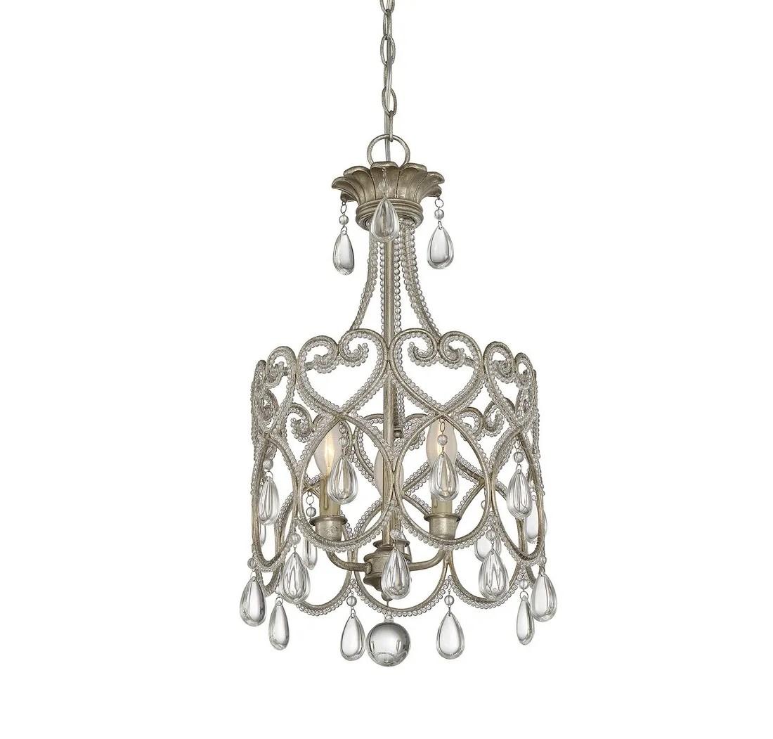 savoy house 3 light mini chandelier in argentum
