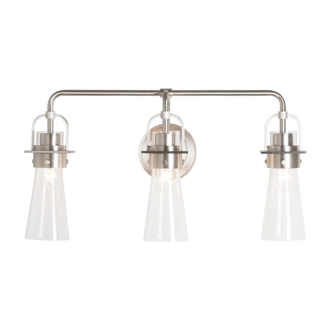 castleton 3 light tapered sconce by hubbardton forge reflections