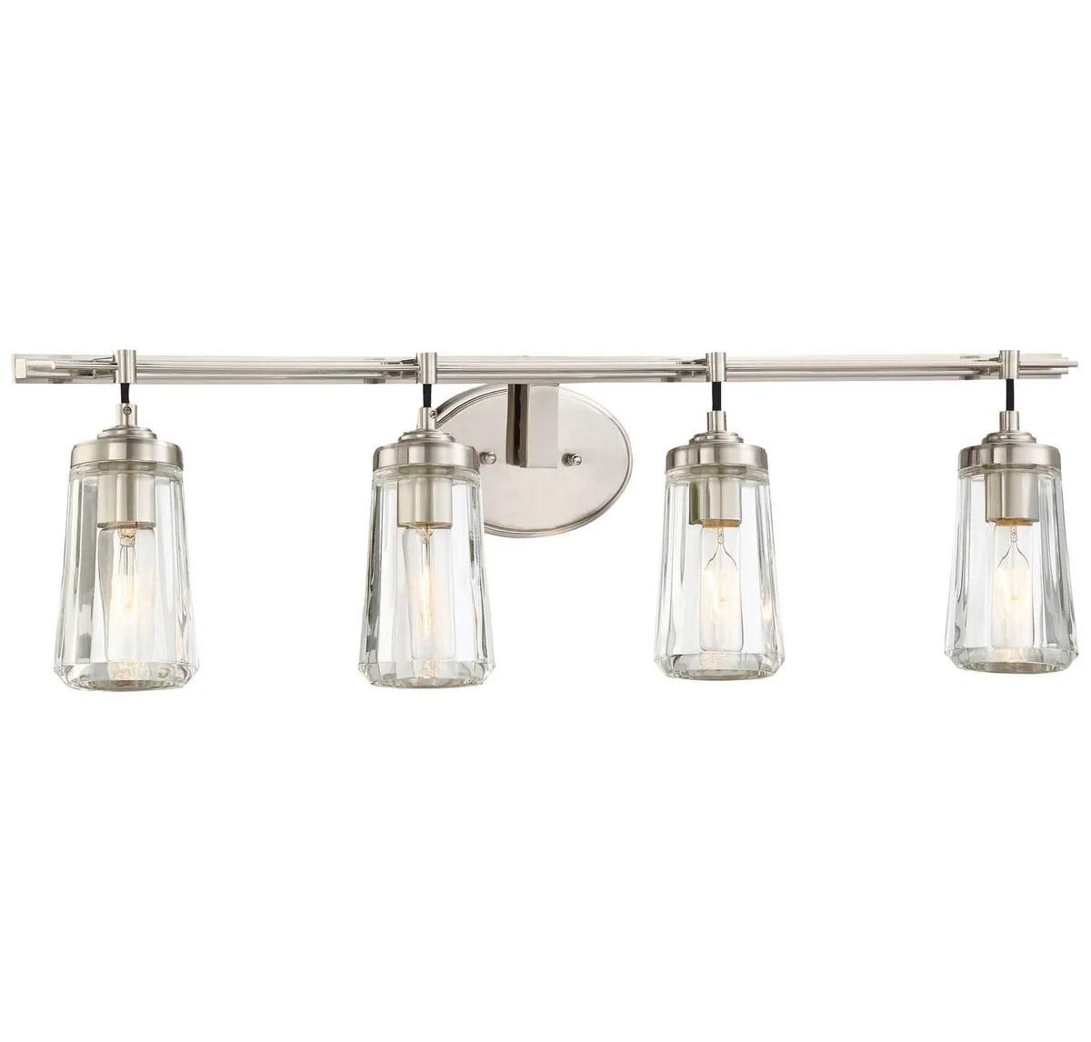 Minka Lavery Poleis 4 Light Bathroom Vanity Light In Brushed Nickel