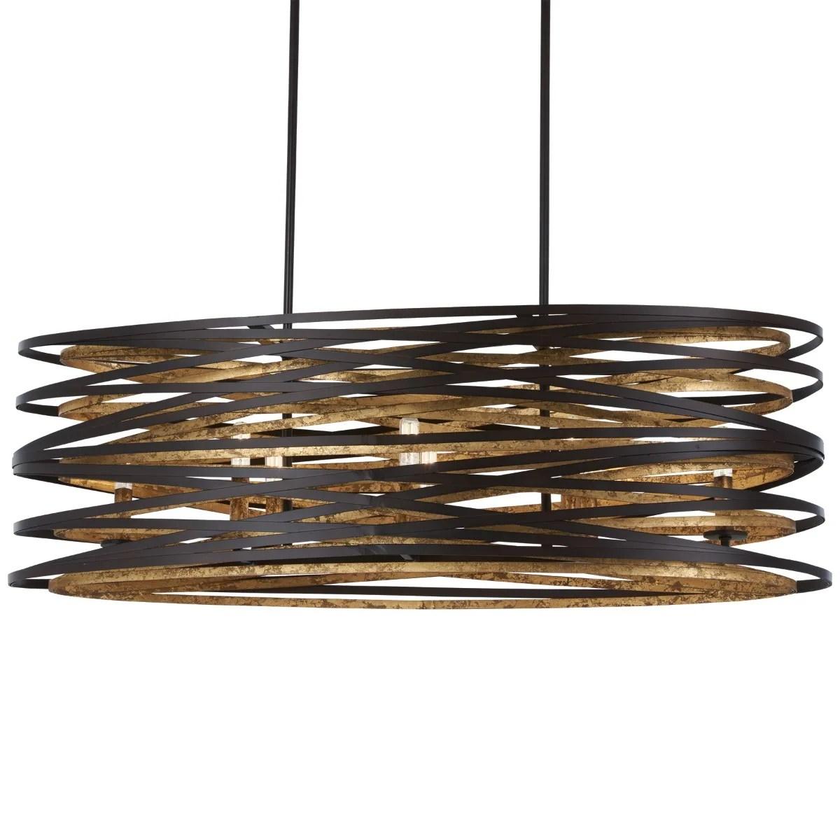 minka lavery vortic flow 8 light island pendant light in dark bronze