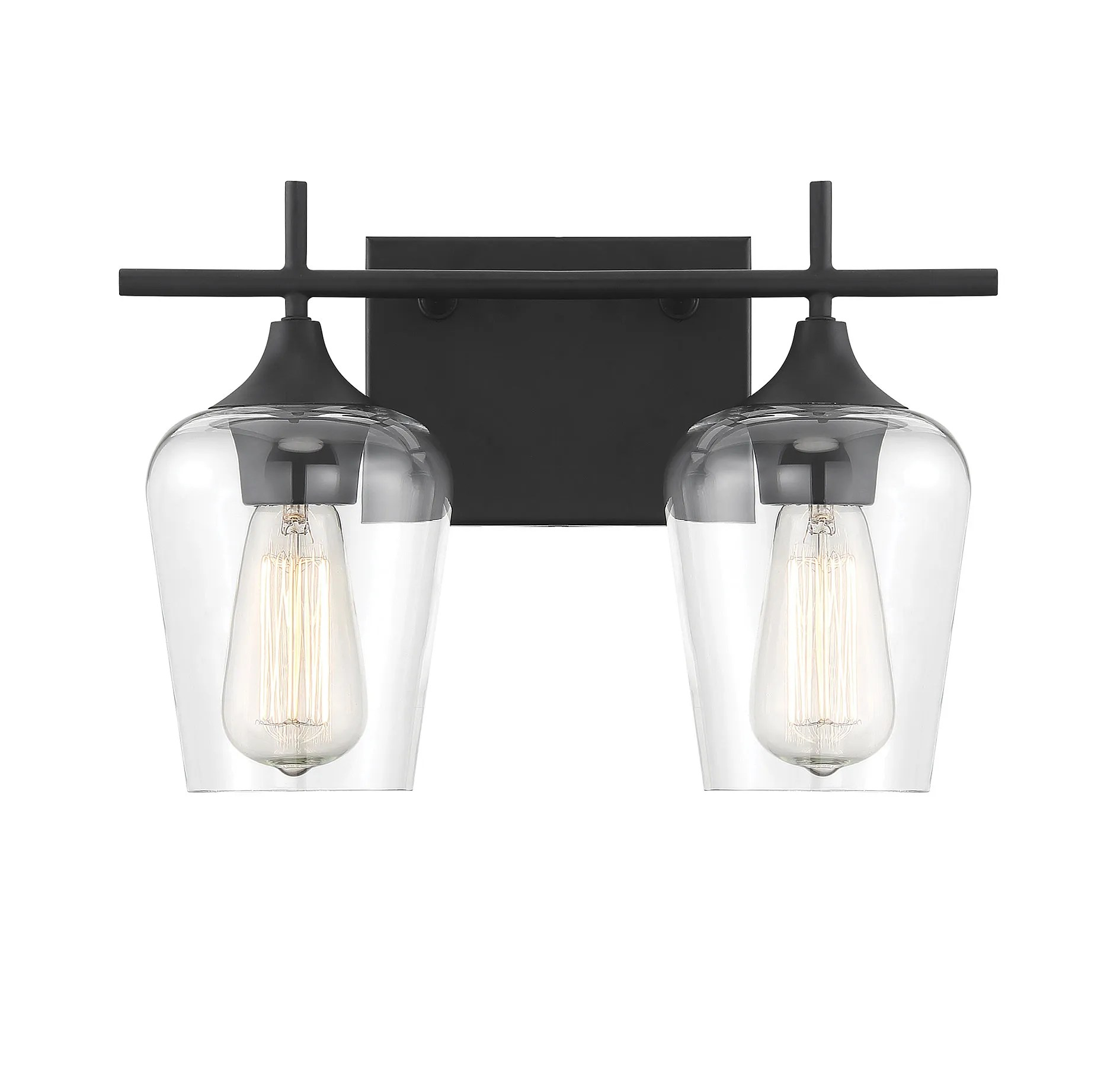 Savoy House Octave 2 Light Bathroom Vanity Light In Black
