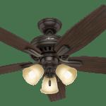 Hunter Newsome 3 Light 52 Indoor Ceiling Fan In Premier Bronze
