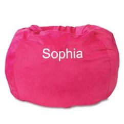 Bing Bag Chairs Desk Chair Hardwood Floor Personalized Bean For Kids Lillian Vernon Fuchsia