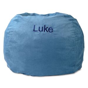 green bean bag chair carlisle dining personalized chairs for kids lillian vernon blue