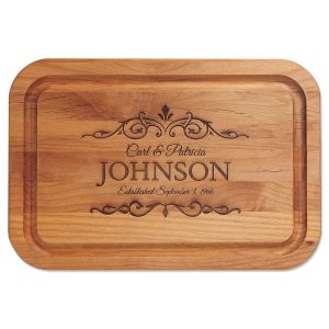 personalized cutting boards monogram