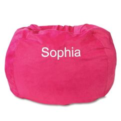 Child Bean Bag Chair Personalized How Much Does It Cost To Reupholster A Fuchsia Beanbag Lillian Vernon