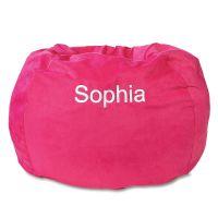 Fuchsia Personalized Beanbag Chair | Lillian Vernon
