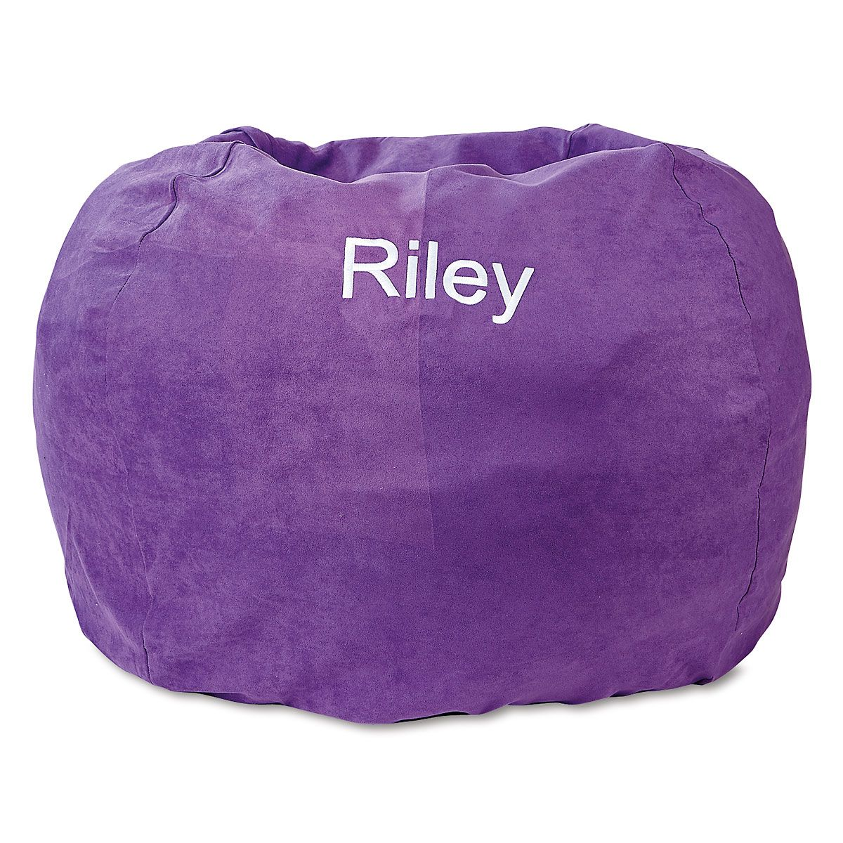 child bean bag chair personalized clear plastic covers for dining chairs purple lillian vernon