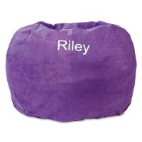 Purple Personalized Bean Bag Chair | Lillian Vernon