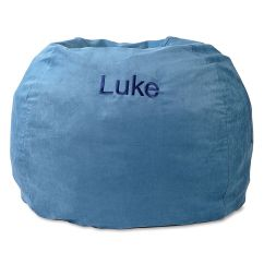 Child Bean Bag Chair Personalized Ergonomic Manila Blue Lillian Vernon