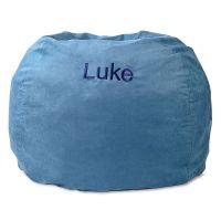 Blue Personalized Bean Bag Chair | Lillian Vernon