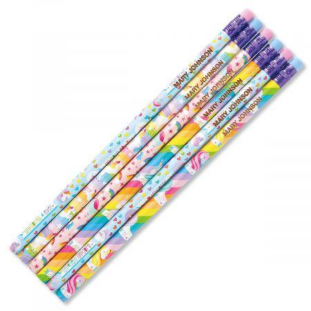 unicorns personalized pencils lillian