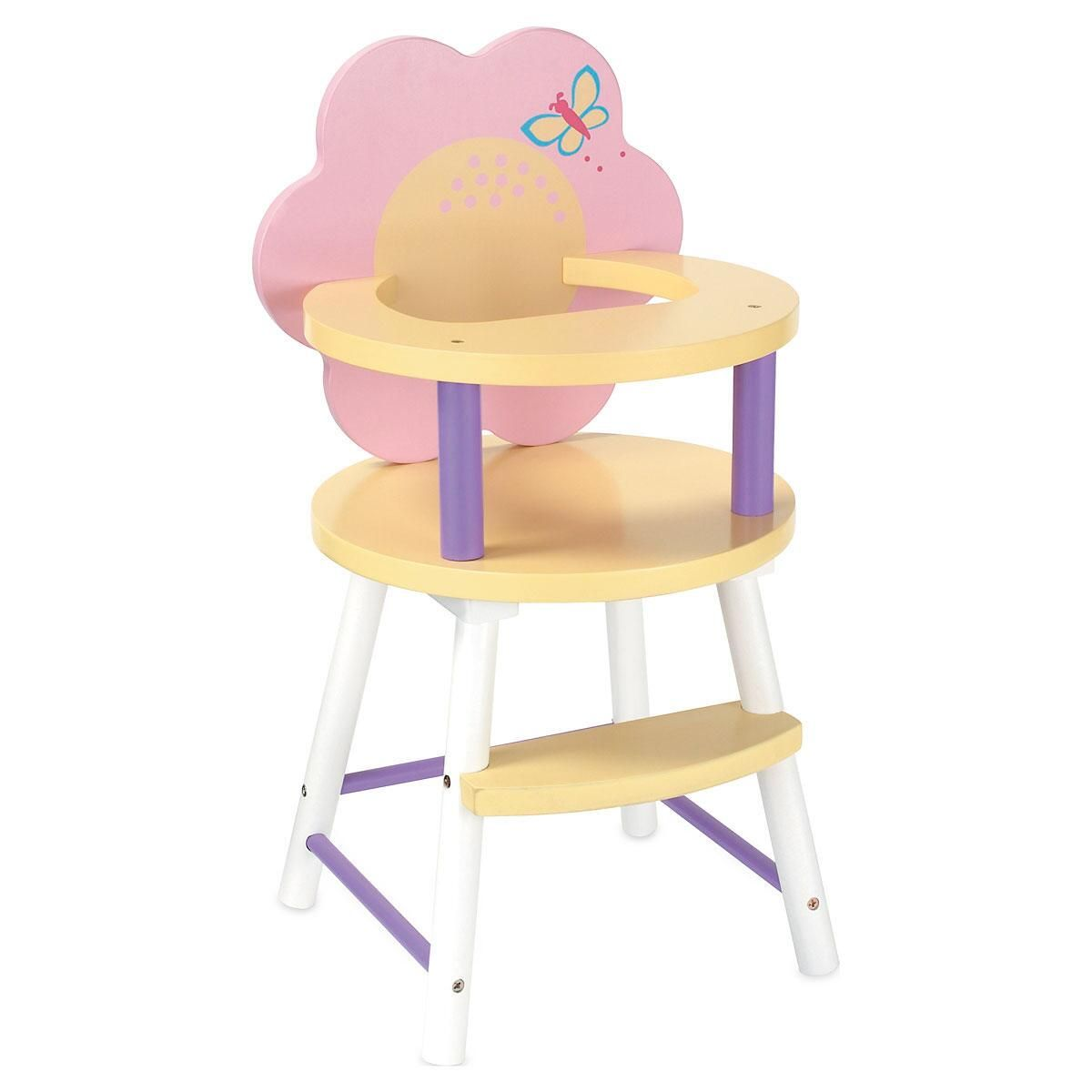 Wooden Baby High Chair Wooden Baby Doll High Chair Lillian Vernon