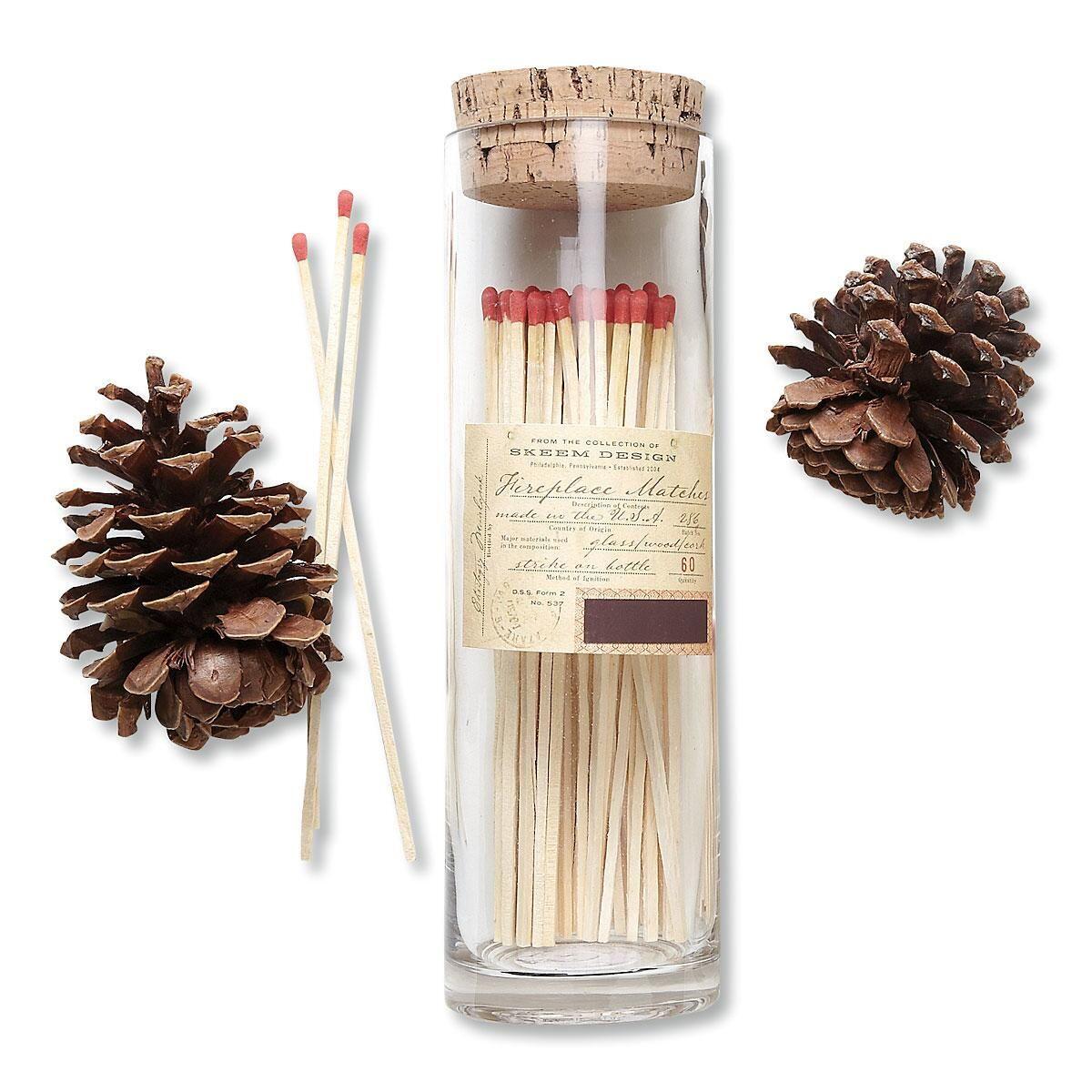 Fireplace Match Bottle By Skeem Lillian Vernon