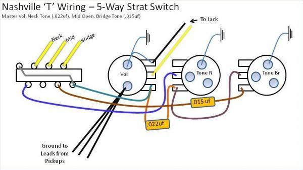 Nashville Tele Wiring Question