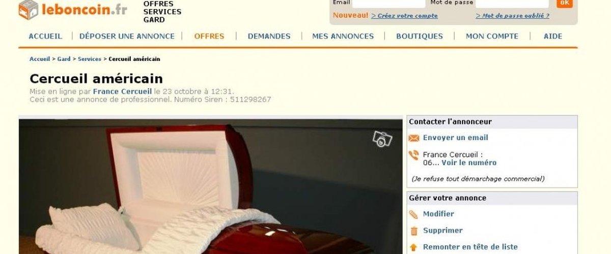 Info Ou Canular A Carcassonne Cercueils A Vendre Sur Leboncoin Fr Lindependant Fr