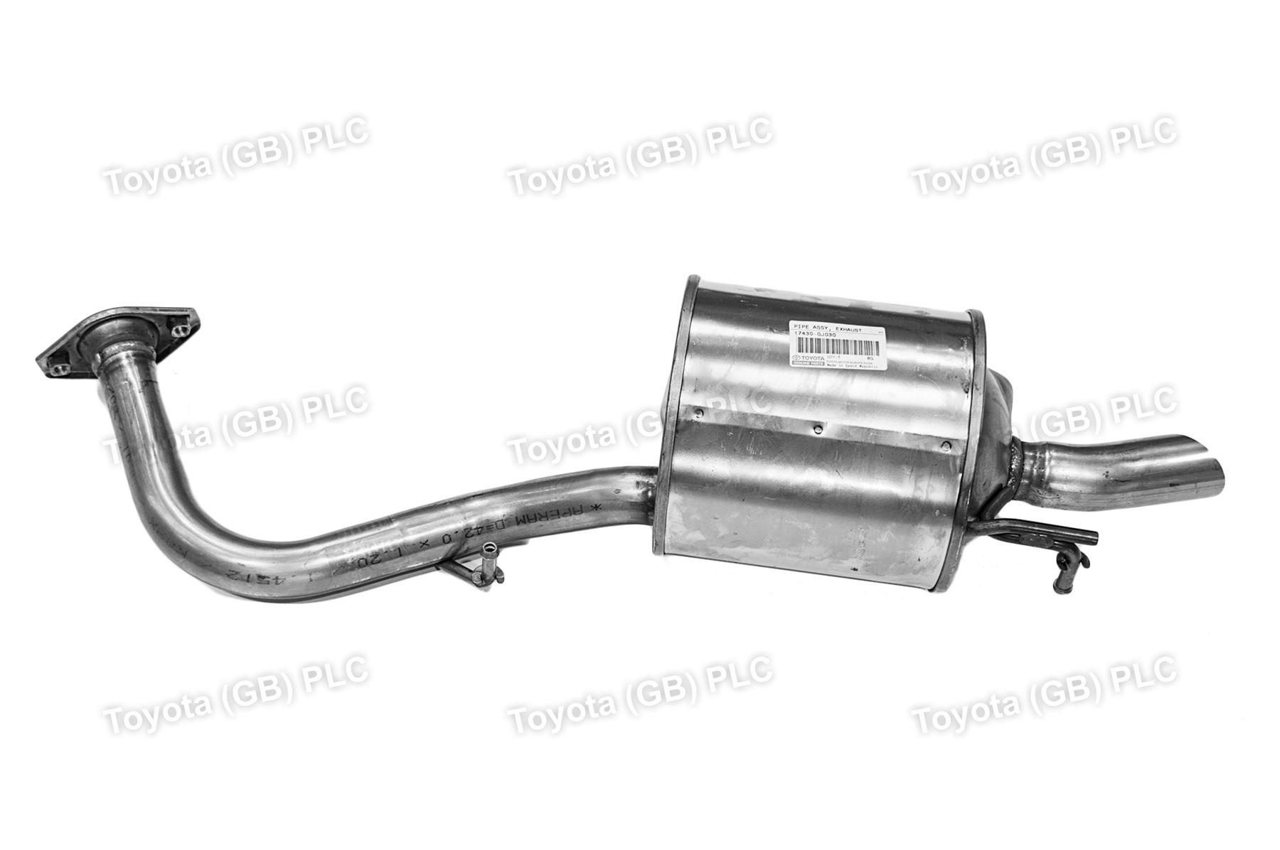 toyota yaris trd exhaust fitur keamanan grand new avanza genuine 1 3 pipe 174300j030 ebay