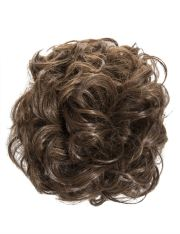 womens easy updo curly hair messy