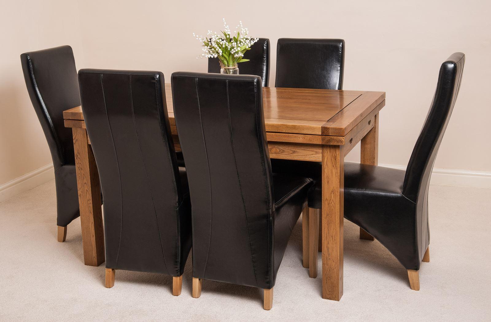 oak farmhouse chairs aluminum beach rustic solid 160cm extending dining table