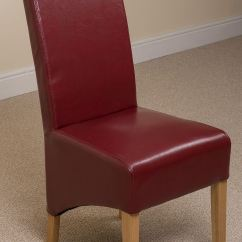 Dining Room Chairs Leather Tempur Pedic Office Chair Reviews Montana Scroll Back Red Kitchen