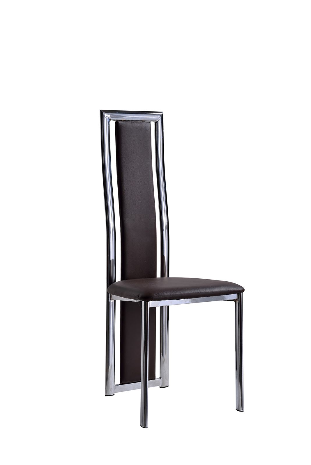 leather armchair metal frame maloof rocking chair elsa black faux dining room chairs kitchen