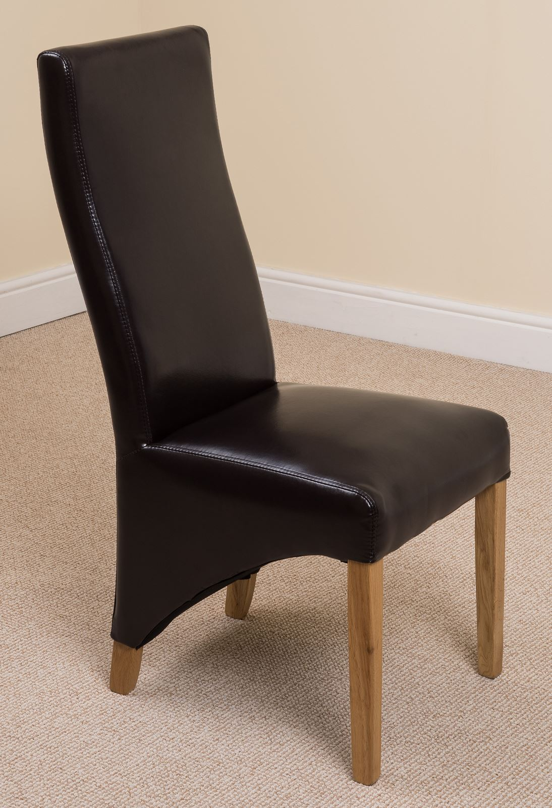 Black Leather Dining Room Chairs Lola Curved Back Black Leather Dining Room Kitchen Chairs